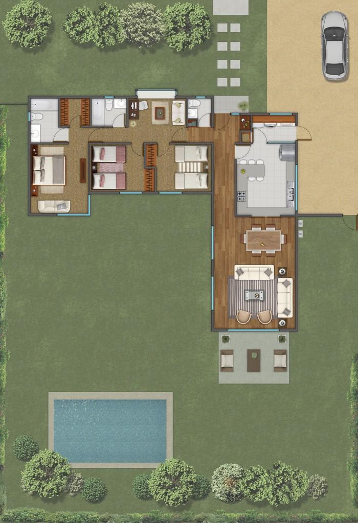 Casa de 1 piso Aromo